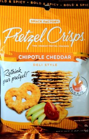 Pretzel Crisps - Chipotle Cheddar Deli Style