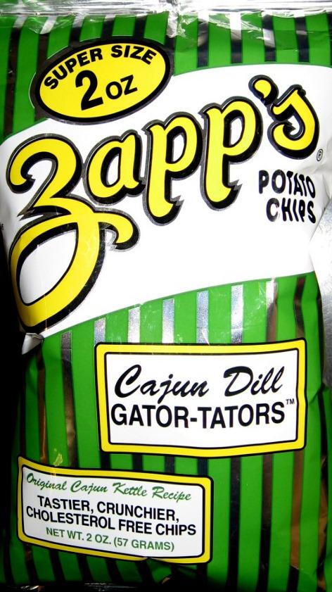Review Zapps Cajun Dill Gator Tators Kettle Potato Chips Chip