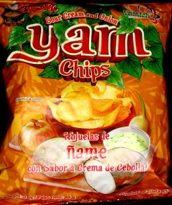 Exotic Yam Chips Sour Cream and Onion