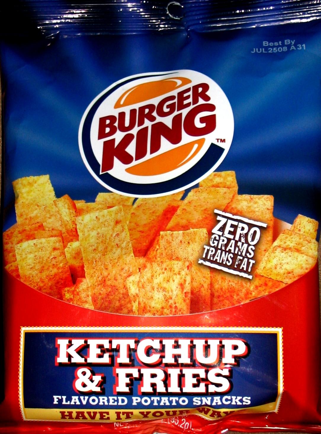 Rating Burger King Ketchup Fries Potato Snacks Chip Review Paldo Bowl Noodle Shrimp Flavor 86 Gram And