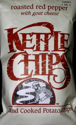 Kettle Chips Roasted Red Pepper with Goat Cheese