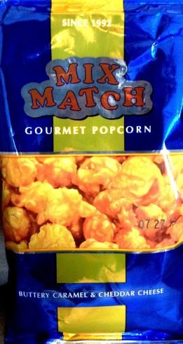 Mix Match Gourmet Popcorn - Buttery Caramel & Cheddar Cheese
