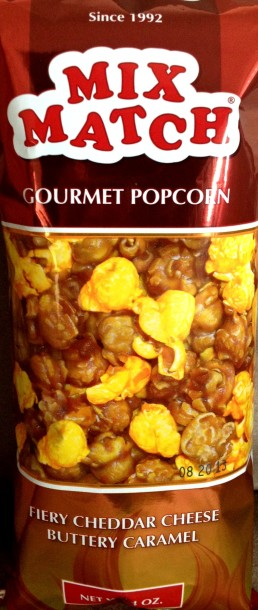 Mix Match Gourmet Popcorn - Fiery Cheddar Cheese Buttery Caramel