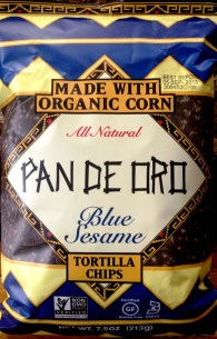 Pan de Oro - Blue Sesame Tortilla Chips