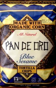 Pan de Oro - Blue Sesame Tortilla Chips