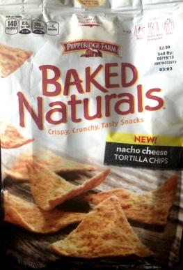 Peppridge Farms Baked Naturals - Nacho Cheese Tortilla Chips