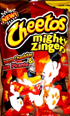 Cheetos - Mighty Zingers - Sharp Cheddar & Salsa Picante