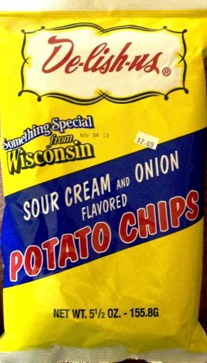 De-lish-us - Sour Cream & Onion Potato Chips