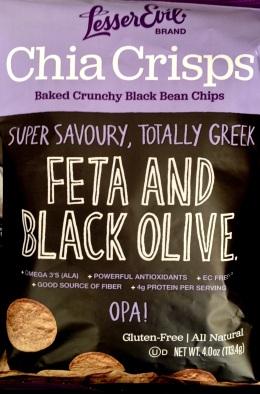 Lesser Evil Chia Crisps - Feta and Black Olive
