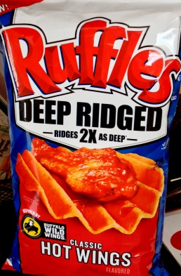 Ruffles Deep Ridged - Buffalo Wild Wings Classic Hot Wings Potato Chips