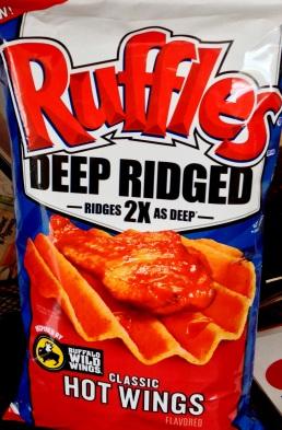 Ruffles Deep Ridged - Buffalo Wild Wings Classic Hot Wings Potato Chips