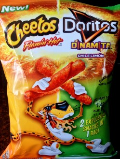 Frito Lay 2 explosive flavors 1 bag - Cheetos Flamin' Hot Doritos Dinamita