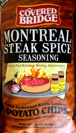 Covered Bridge - Montreal Steak Spice Seasoning Old Fashioned Kettle Style Potato Chips