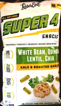 Lesser Evil Super 4 - Roasted Garlic and Kale Bean Bites