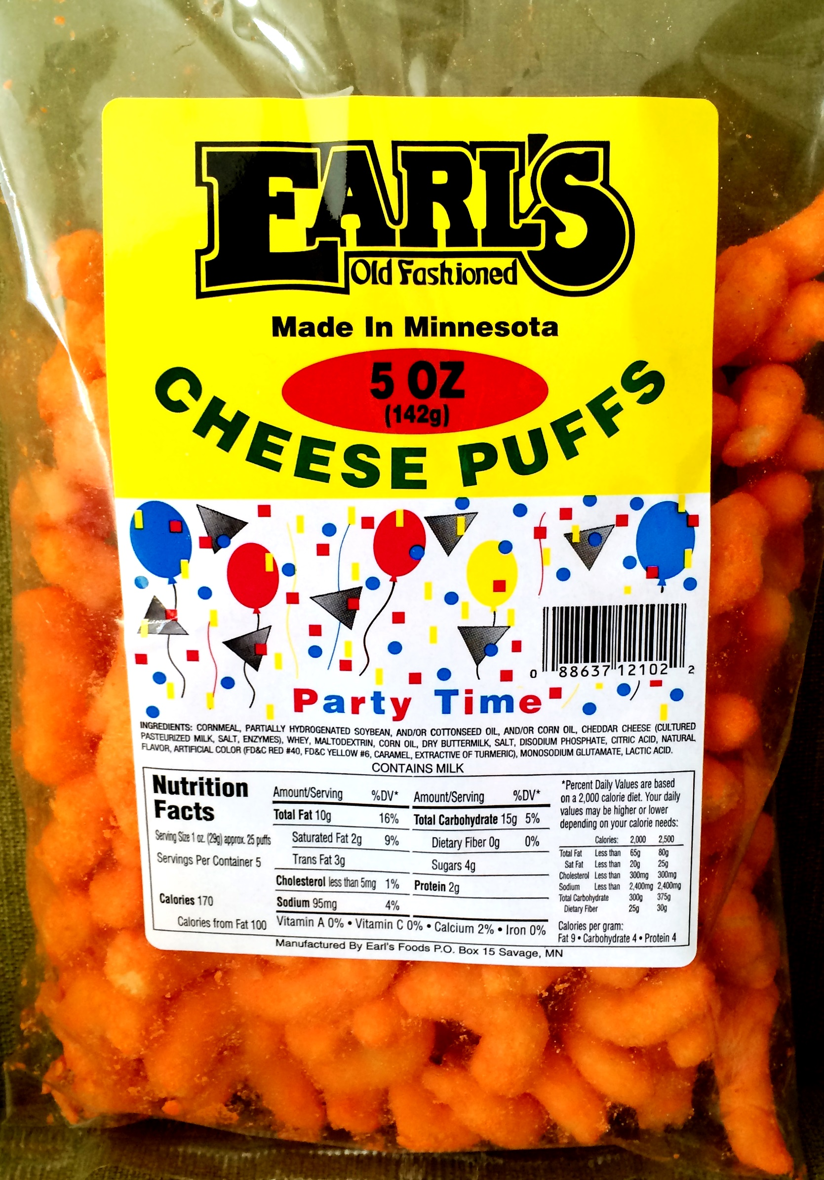 Review Earls Party Time Cheese Puffs Chip Review