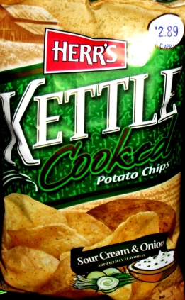Herr's Kettle Chips Sour Cream & Onion