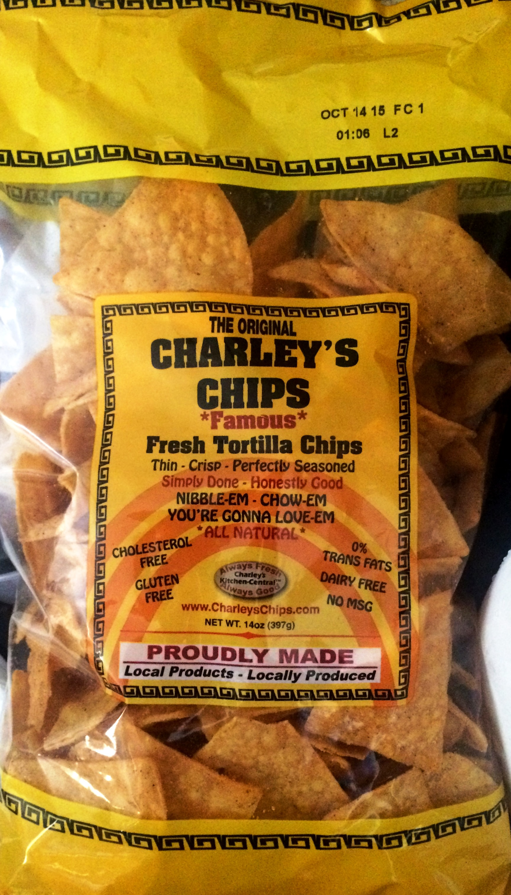 """REVIEW: The Original Charley\'s Chips """"Famous"""" Fresh Tortilla Chips ..."""