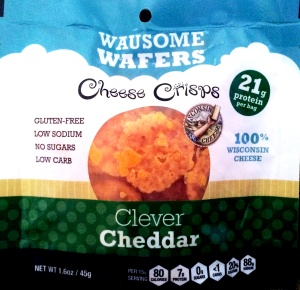 Wausome Wafers Cheese Crisps - Clever Cheddar