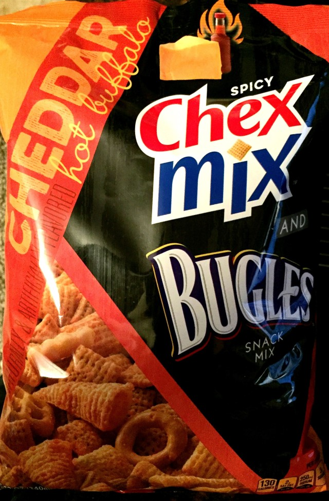 Review Spicy Chex Mix And Bugles Snack Mix Cheddar Hot Buffalo Chip Review