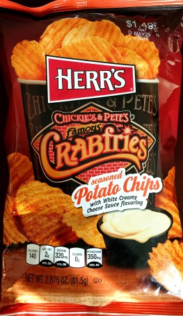 Herr's - Chickie's & Pete's Famous Crabfries seasoned Potato Chips with White Creamy Cheese Sauce flavoring