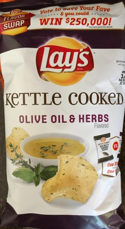 Lay's Kettle Cooked - Olive Oil & Herbs