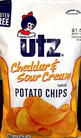 Utz - Cheddar & Sour Cream Potato Chips